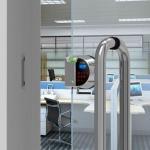 Fechadura elétrica para porta de vidro